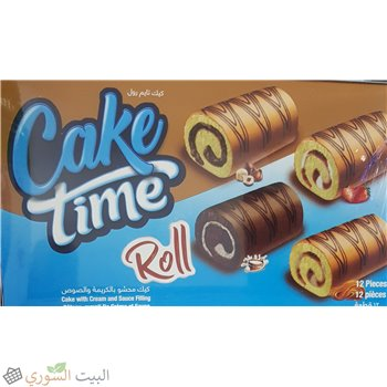Cake time roll with cream x12