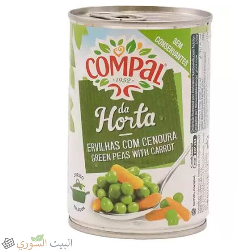 Compal Green peas with carrot 520g