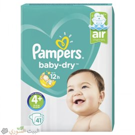 PAMPERS Active Baby-Dry 4+ 41 pcs